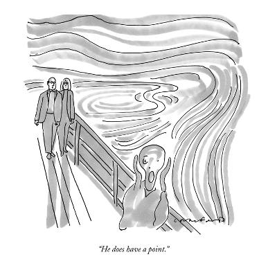 He does have a point - New Yorker Cartoon-Michael Crawford-Premium Giclee Print