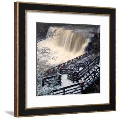 He Falls in the Heart of Chagrin Falls--Framed Photographic Print