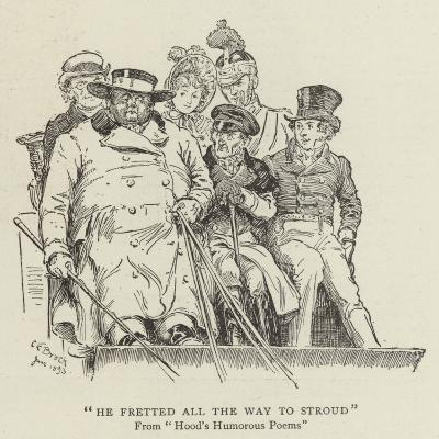 He Fretted All the Way to Stroud, Hood's Humorous Poems-Charles Edmund Brock-Giclee Print