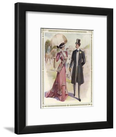 He: Frock Coat Top Hat Grey Trousers Cravat Buttonhole-A. Ferro-Framed Giclee Print