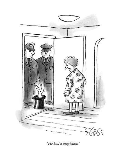 """He had a magician!"" - New Yorker Cartoon--Premium Giclee Print"