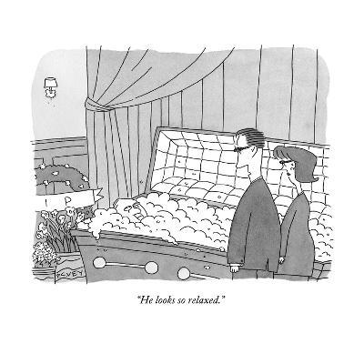 """He looks so relaxed."" - New Yorker Cartoon--Premium Giclee Print"