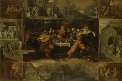 He Parable of the Prodigal Son, 1620-Frans Francken the Younger-Giclee Print