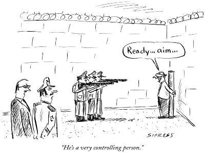 """He's a very controlling person."" - New Yorker Cartoon-David Sipress-Premium Giclee Print"
