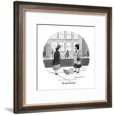 """He's part bok choy."" - New Yorker Cartoon-Danny Shanahan-Framed Premium Giclee Print"