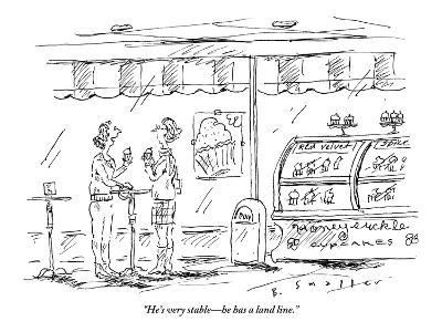 """""""He's very stable?he has a land line."""" - New Yorker Cartoon-Barbara Smaller-Premium Giclee Print"""