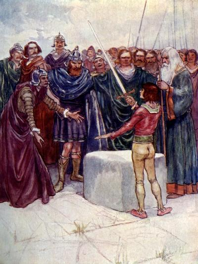 He Stood There Holding the Magic Sword in His Hand-AS Forrest-Giclee Print