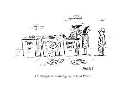 """He thought he wasn't going to need them."" - Cartoon-David Sipress-Premium Giclee Print"