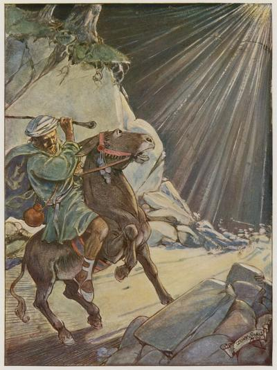 He Took His Staff and Beat the Poor Beast-Tony Sarg-Giclee Print