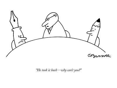 """""""He took it back?why can't you?"""" - New Yorker Cartoon-Charles Barsotti-Premium Giclee Print"""