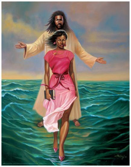 He Walks with M-Sterling Brown-Art Print