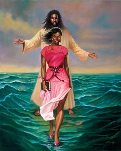 He Walks with Me-Sterling Brown-Art Print