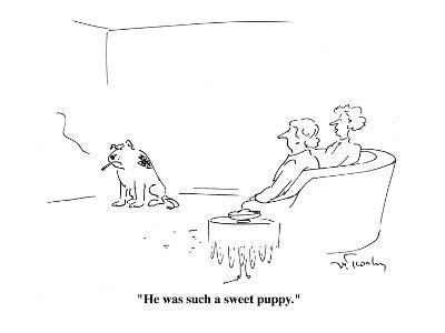 """""""He was such a sweet puppy."""" - Cartoon-Mike Twohy-Premium Giclee Print"""