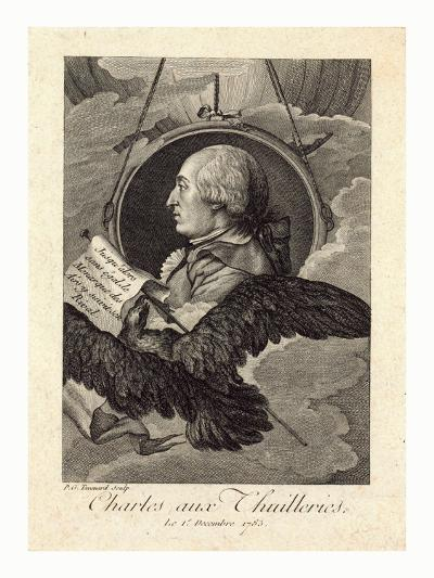 Head-And-Shoulders Profile Portrait of French Balloonist J.A.C. Charles--Giclee Print