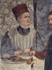 Head Chef of Malpaga Castle, Attributed to Marcello Fogolino, Detail