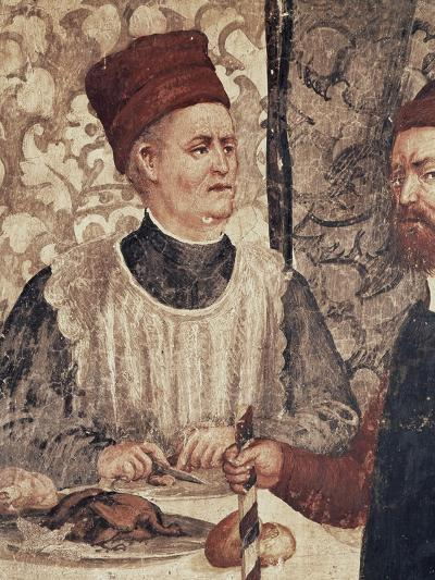 Head Chef of Malpaga Castle or Food Taster, Detail from Fresco Attributed to Marcello Fogolino--Giclee Print