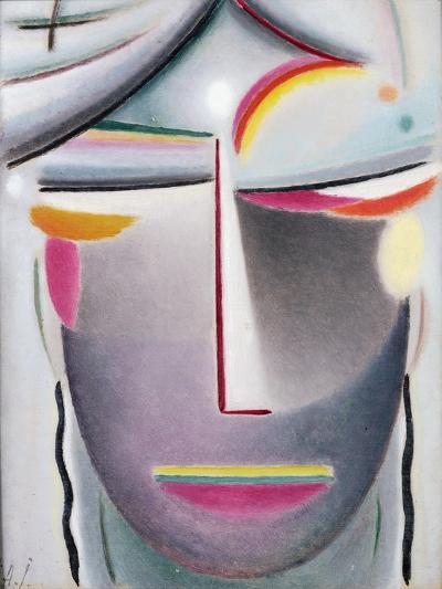 Head (Dark Buddha), c.1927-Alexej Von Jawlensky-Giclee Print