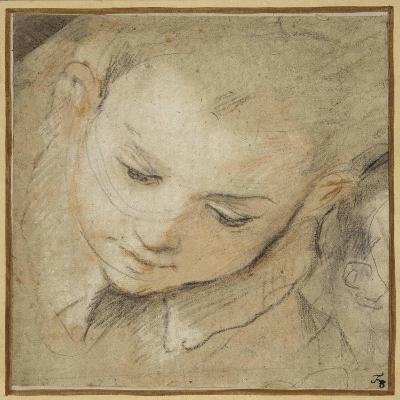 Head of a Boy Looking Down, 1583-Federico Barocci-Giclee Print