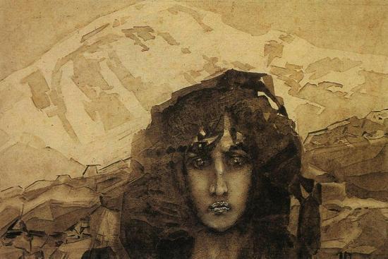 Head of a Demon, 1890-Mikhail Aleksandrovich Vrubel-Giclee Print