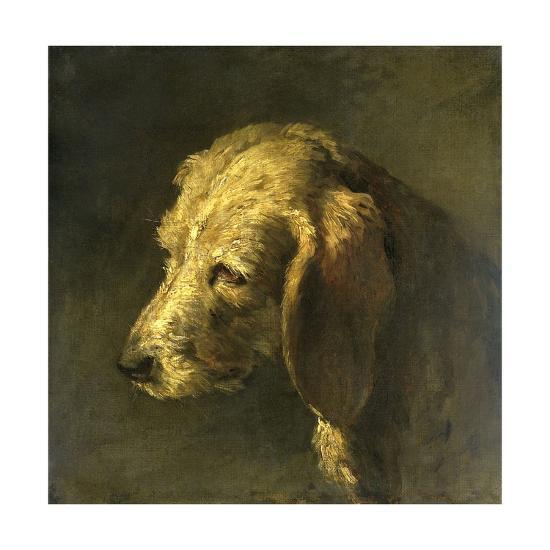 Head of a Dog, by Nicolas Toussaint Charlet, C. 1820-45-Nicolas Toussaint Charlet-Giclee Print