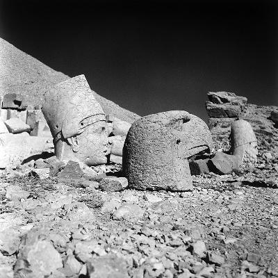Head of a God and Head of an Eagle, Remains of the Temple of Antiochus I-Pietro Ronchetti-Photographic Print