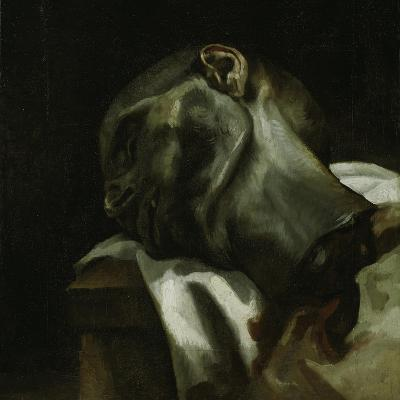 Head of a Guillotined Man, 1818-19-Theodore Gericault-Giclee Print