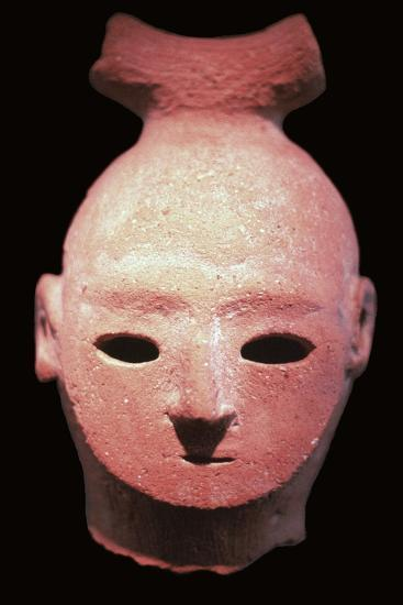 Head of a Haniwa tomb figure, 6th century. Artist: Unknown-Unknown-Giclee Print