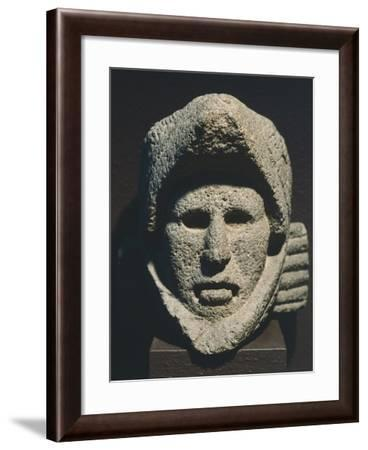 Head of a Knight with a Helmet in the Shape of the Head of a Bird of Prey--Framed Giclee Print