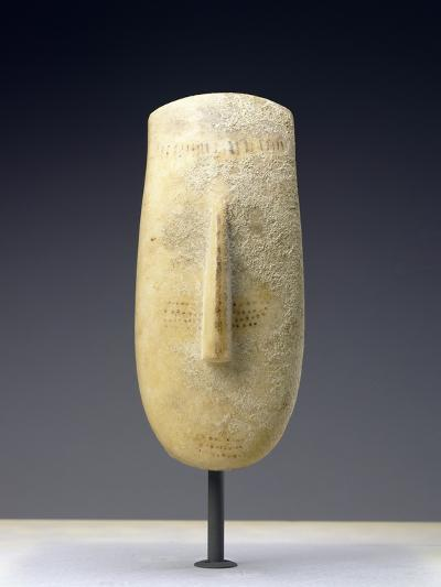 Head of a Large Female Cycladic Figure of the Early Spedos Variety--Photographic Print