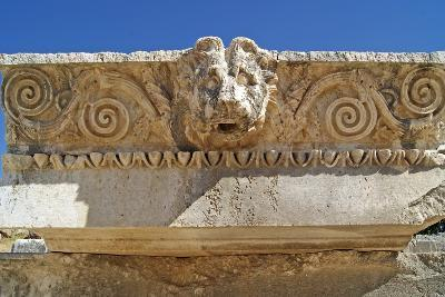 Head of a Lion, Letoon, Turkey--Photographic Print