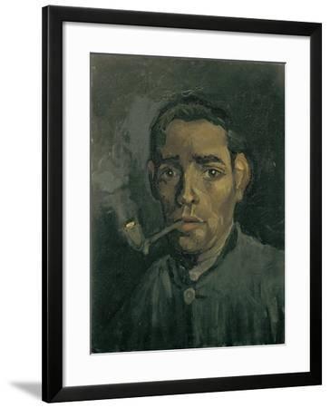 Head of a Man, 1884-1885-Vincent van Gogh-Framed Giclee Print