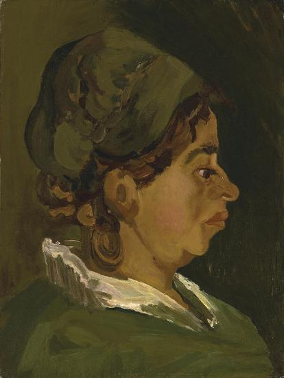 Head of a Peasant Woman: Right Profile, 1884-Vincent van Gogh-Giclee Print