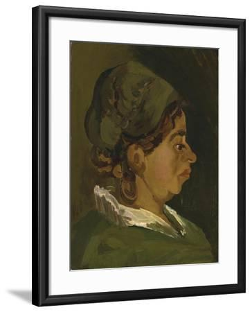 Head of a Peasant Woman: Right Profile, 1884-Vincent van Gogh-Framed Giclee Print