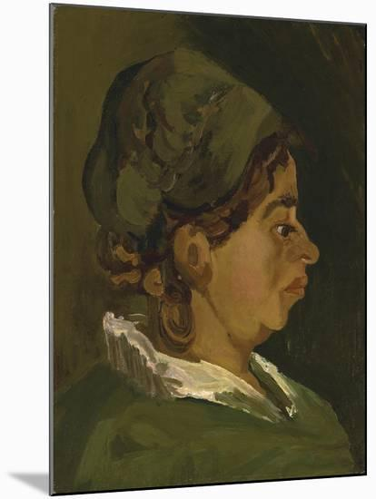 Head of a Peasant Woman: Right Profile, 1884-Vincent van Gogh-Mounted Giclee Print