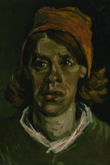 Head of a Peasant Woman with Red Hood, 1885-Vincent van Gogh-Giclee Print