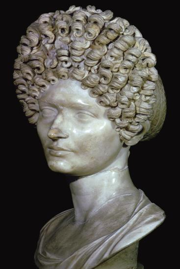Head of a Roman Lady, 1st century. Artist: Unknown-Unknown-Giclee Print