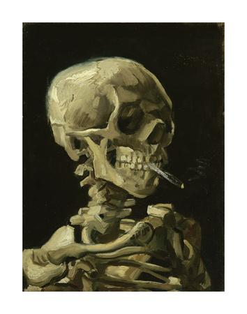 Head of a Skeleton with a Burning Cigarette, 1886-Vincent van Gogh-Art Print