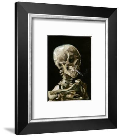 Head of a Skeleton with a Burning Cigarette-Vincent van Gogh-Framed Premium Giclee Print