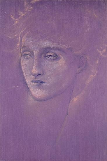 Head of a Woman, 1890s-Edward Burne-Jones-Giclee Print