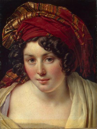 Head of a Woman in a Turban, Ca 1820-Anne-Louis Girodet de Roussy-Trioson-Giclee Print