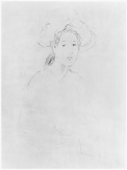 Head of a Woman (Verso) (See 383972 Recto) 1893 ? (Pencil on Paper)-Berthe Morisot-Giclee Print