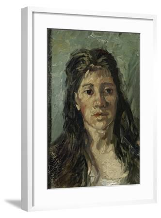 Head of a Woman with Open Hair, 1885-Vincent van Gogh-Framed Giclee Print