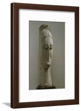 Head of a Woman-Amedeo Modigliani-Framed Giclee Print