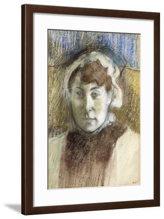 Head of a Woman-Edgar Degas-Framed Giclee Print