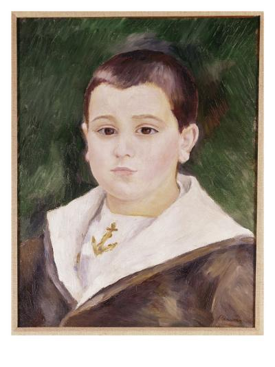 Head of a Young Boy in a Sailor Suit-Pierre-Auguste Renoir-Giclee Print