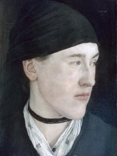 Head of a Young Girl, 1879-Wilhelm Maria Hubertus Leibl-Giclee Print