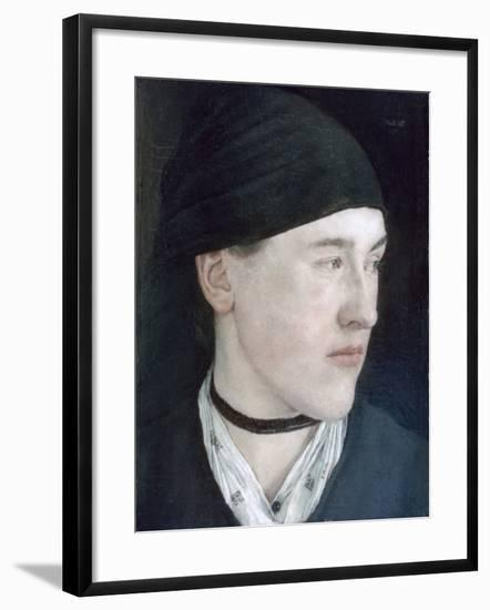 Head of a Young Girl, 1879-Wilhelm Maria Hubertus Leibl-Framed Giclee Print