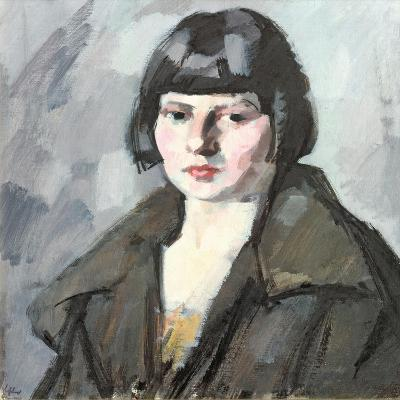 Head of a Young Girl, C.1920-Samuel John Peploe-Giclee Print