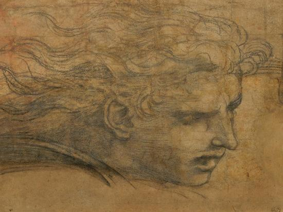 Head of a Young Man, Three Quarters Towards the Right-Raphael-Giclee Print