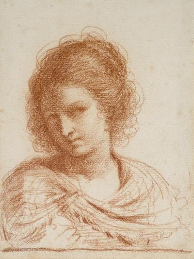 Head of a Young Woman, 1650 - 1666-Guercino-Giclee Print